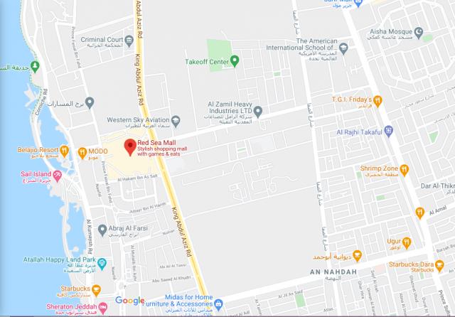 خريطة رد سي مول جدة