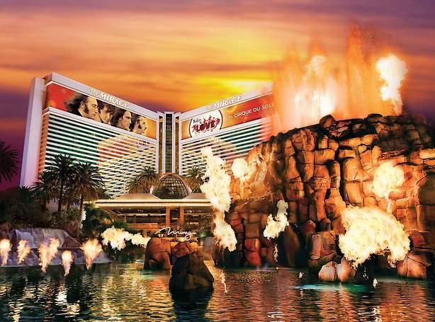 فندق ميراج : الثوران البركاني وحديقة سيغفريد وروي السرية