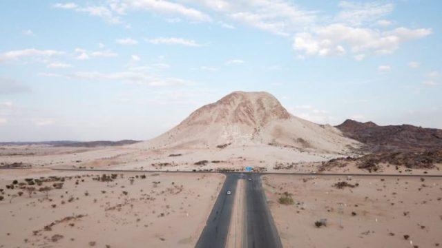 جبل الصايرة البيضاء في بيشة