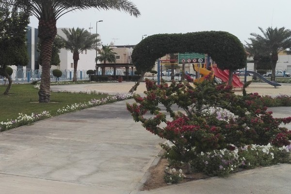 منطقة الألعاب المخصصة للأطفال بحديقة الورود بالخبر