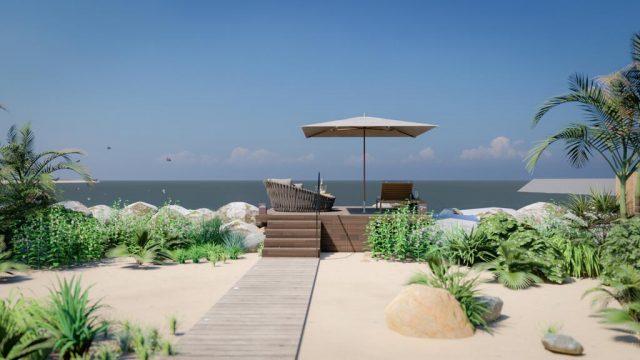 فندق ريتز كارلتون رأس الخيمة,شاطئ الحمرا
