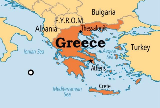 خريطة اليونان
