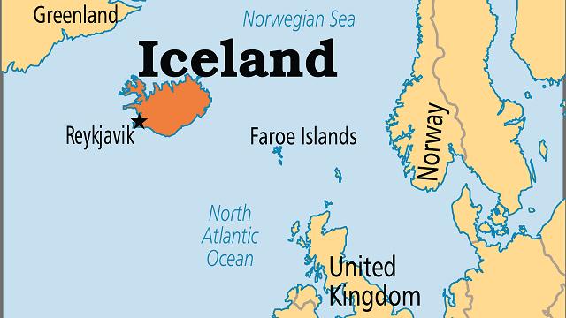 خريطة ايسلندا
