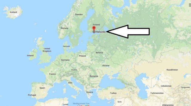 موقع هلسنكي على الخريطة