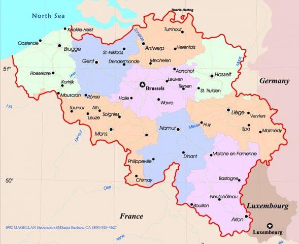 خريطة بلجيكا