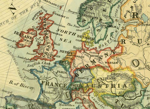 خريطة ايرلندا
