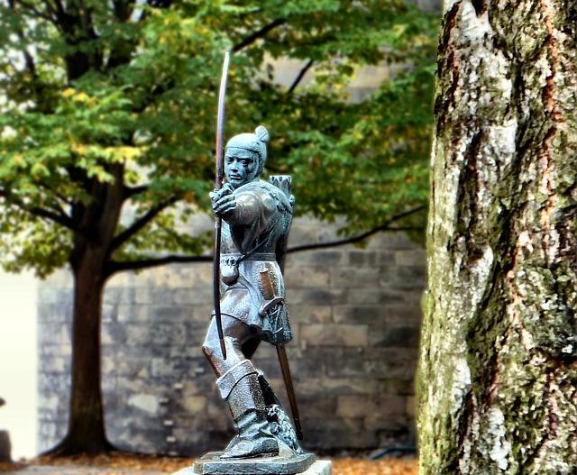 تمثال روبن هوود في نوتنجهام
