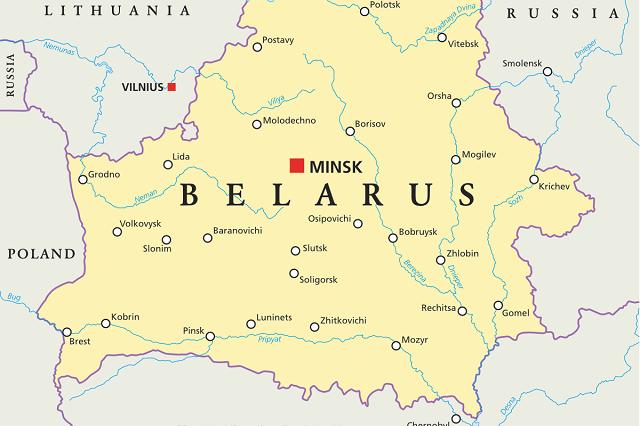 اين تقع بيلا روسيا