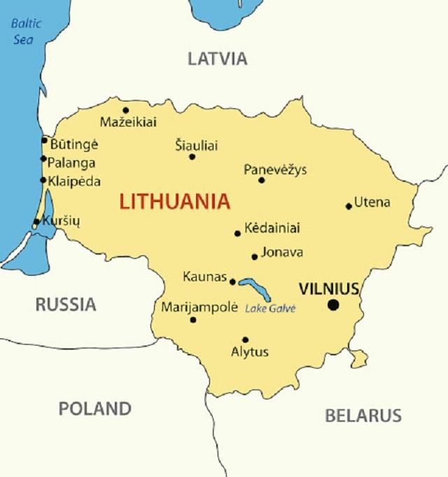 اين تقع ليتوانيا