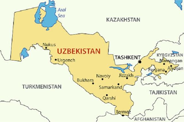 اين تقع اوزباكستان
