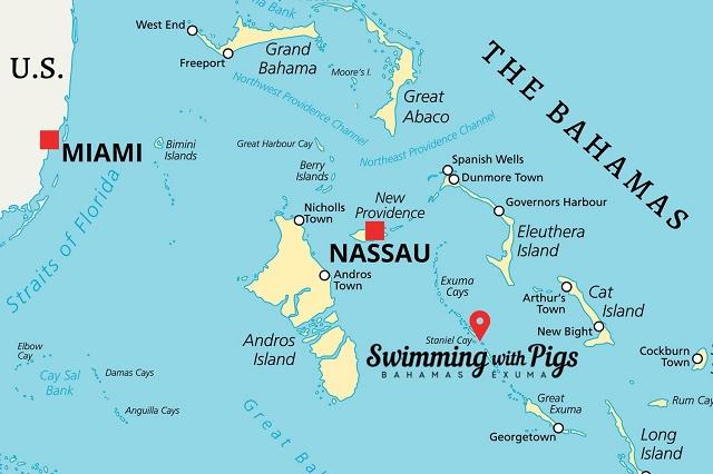 اين تقع جزر البهاما
