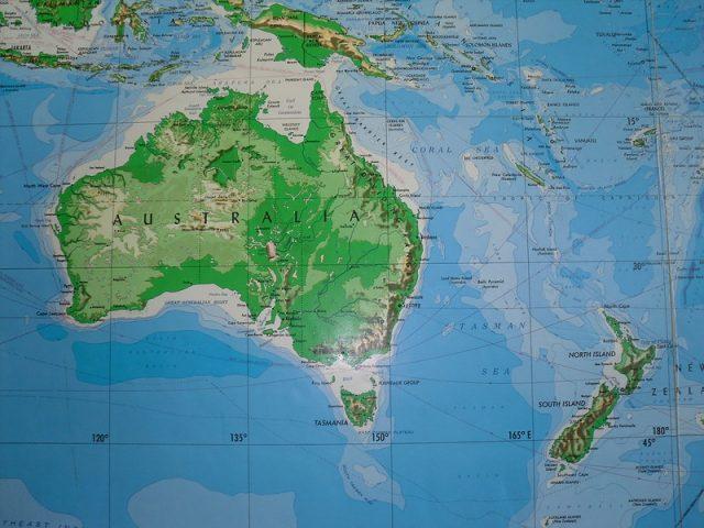 نيوزيلندا على الخريطة