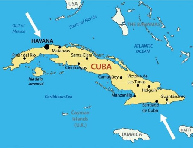اين تقع كوبا